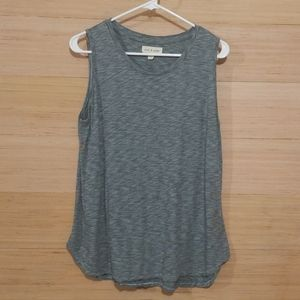 Cloth & Stone Space Dyed Gray/Blue Tank
